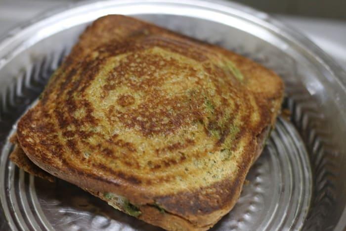 veg cheese sandwich ready