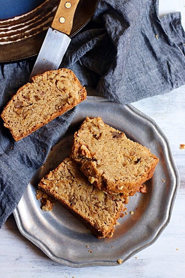 easy banana walnut bread recipe