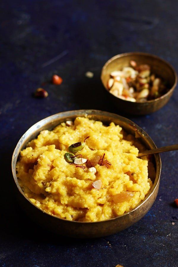 easy moong dal halwa recipe