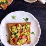 Cheese Avocado Toast Recipe | How To Make Avocado Toast