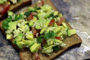 avocado toast recipe making