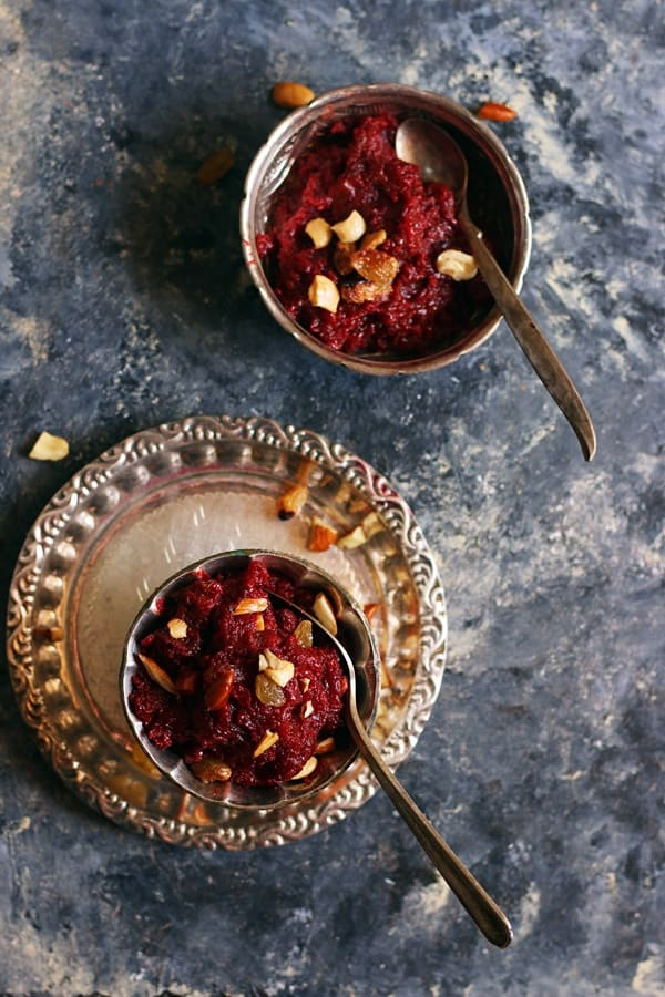 homemade beetroot halwa recipe