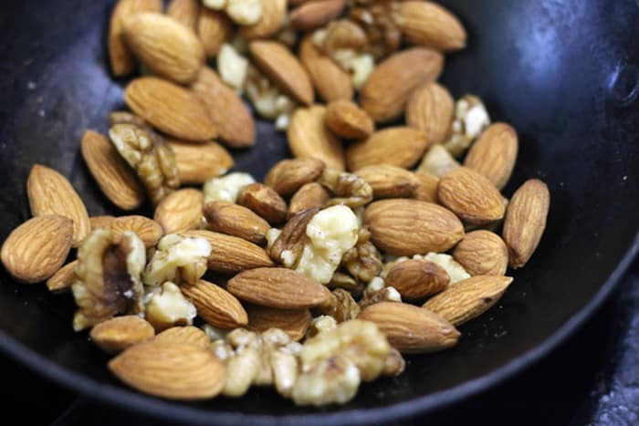 roasting almonds for cilantro almond pesto recipe