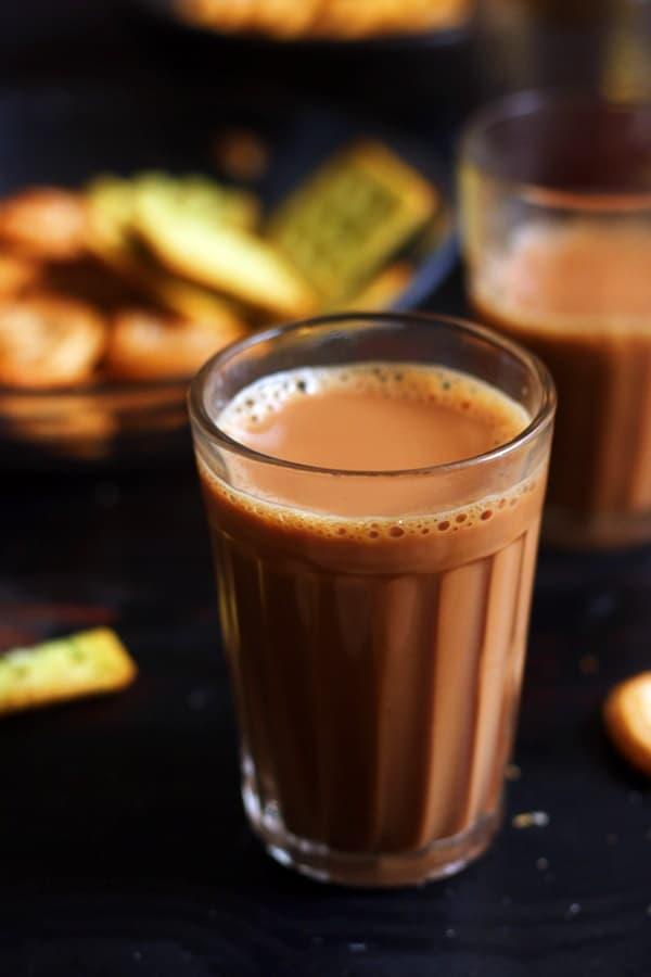Adrak chai ready to serve