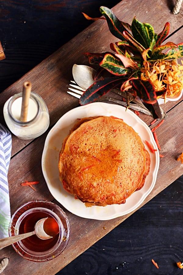 how to make carrot pancakes recipe