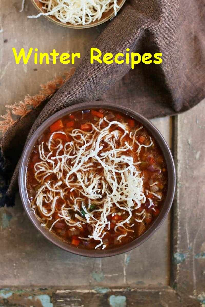 Winter recipes collection, collection of 50 winter special recipes