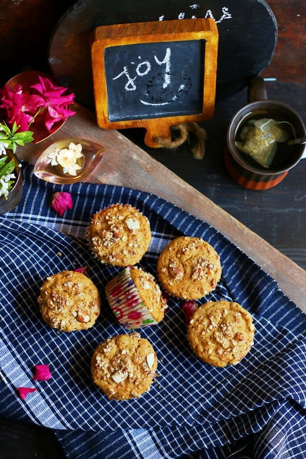 whole wheat carrot muffin recipe