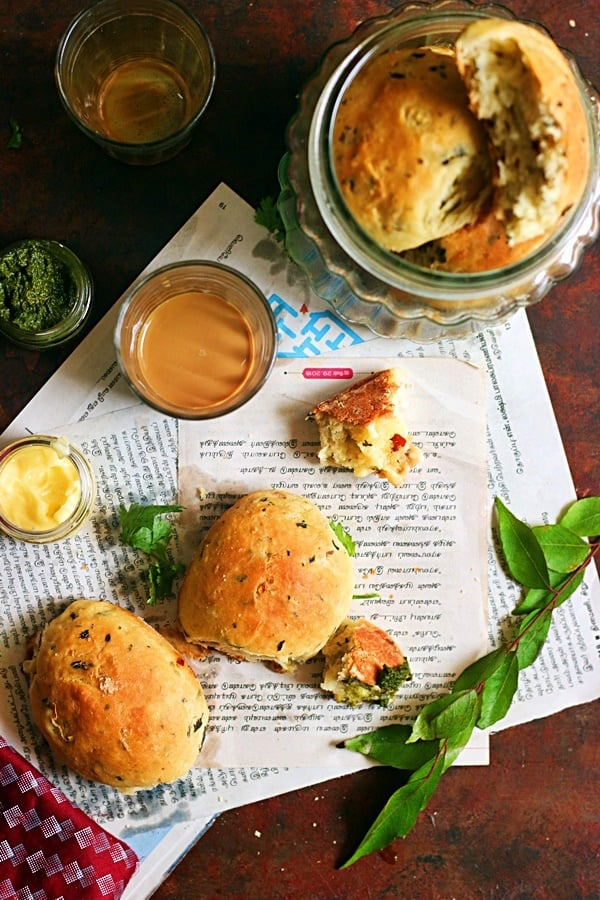 bakery style khara bun recipe
