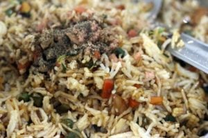 salt and pepper added for fried rice
