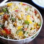 Capsicum Rice Recipe | How To Make Capsicum Rice