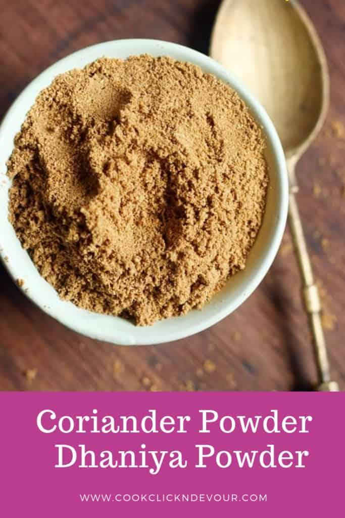 coriander powder recipe