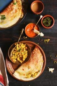 how to make paneer masala dosa recipe