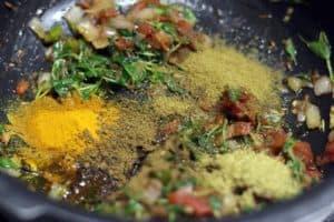 Making paneer dosa recipe