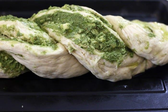 Making braided bread recipe