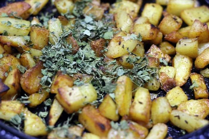 Potato roast ready