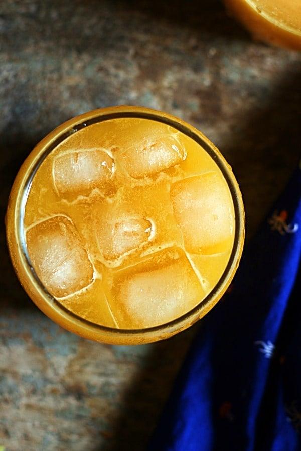 Ganga jamun juice-overhead shot.