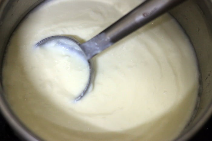 whisked fresh yogurt