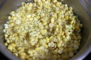 soaked lentils for making handvo recipe