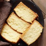 Thick slices of butter cake baked fresh