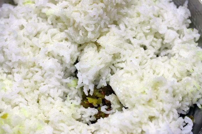 raw mango rice making