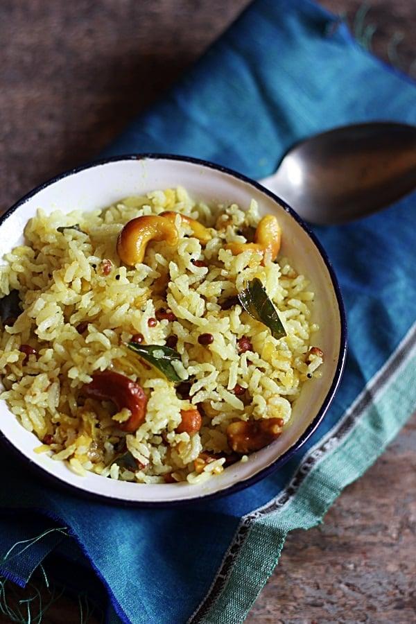 Mango rice ready to serve