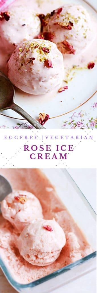 rose ice cream recipe