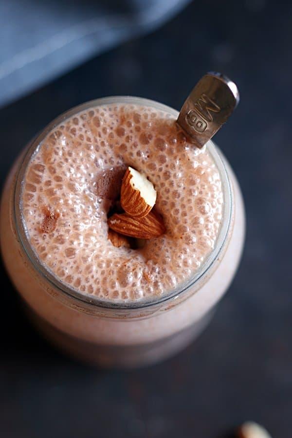 Closeup shot sharjah milkshake