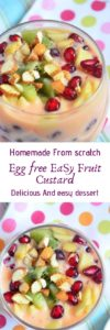 recipe of fruit custard
