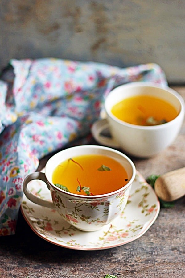 easy saffron tea recipe