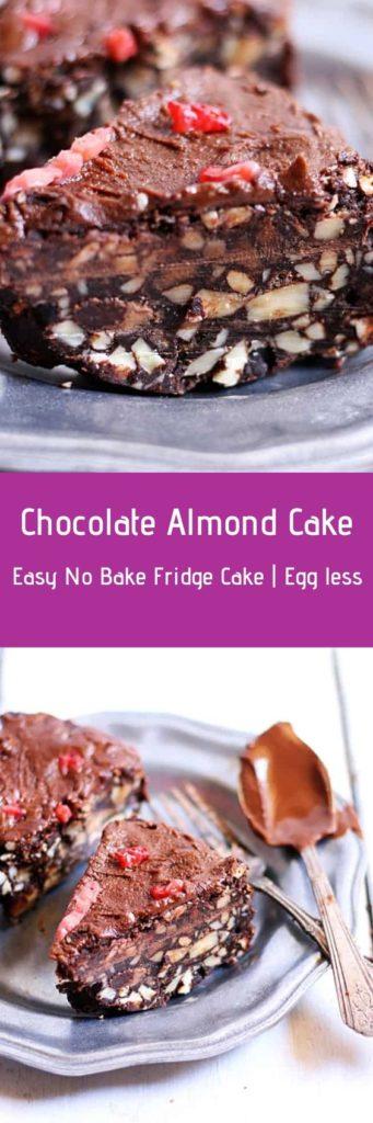 No bake almond cake recipe.