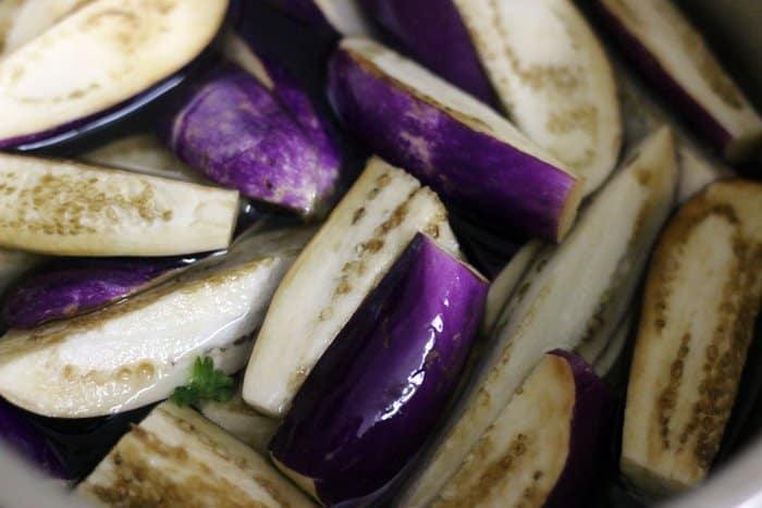 eggplants for sambar