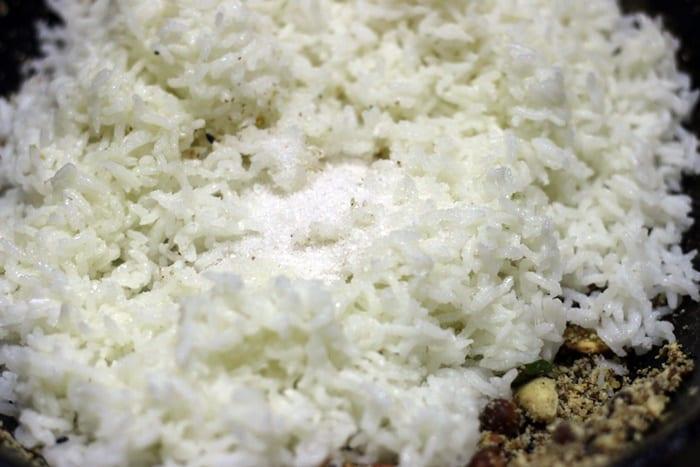 peanut rice making
