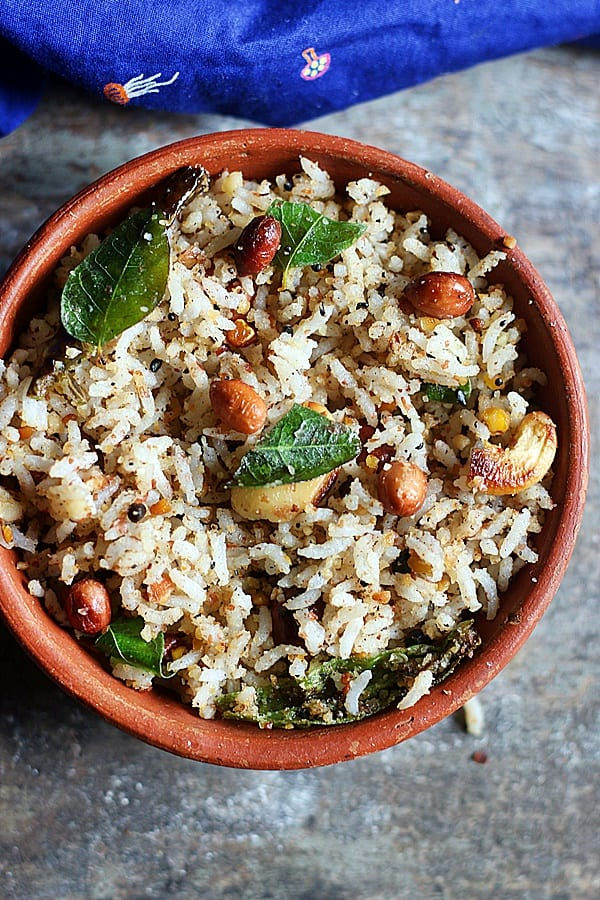 quick and easy peanut rice ready to serve