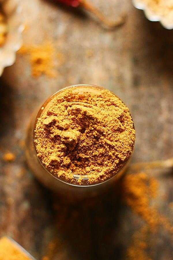 ready to store sambar powder