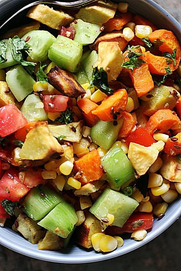 sweet potato salad ready to serve