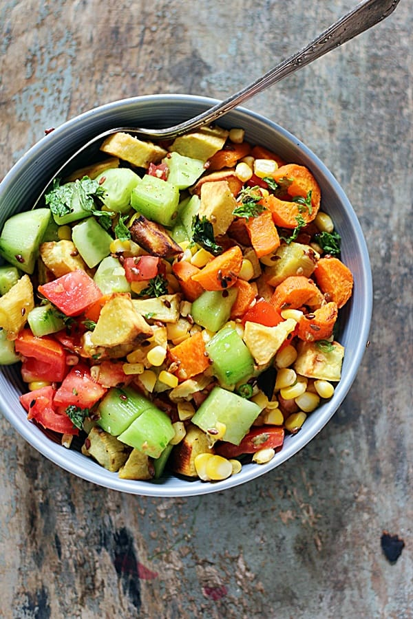 Roasted Sweet Potato Salad Cook Click N Devour