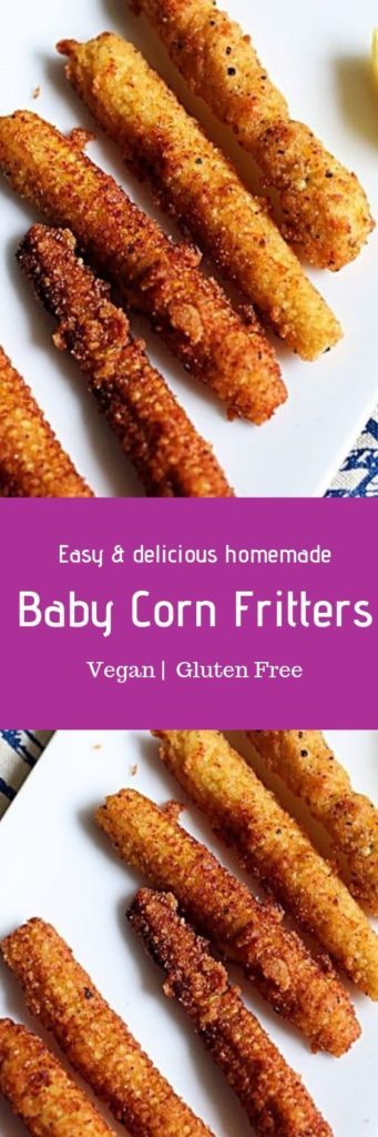 Babycorn fritters recipe