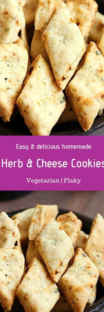Herb and cheese cookies