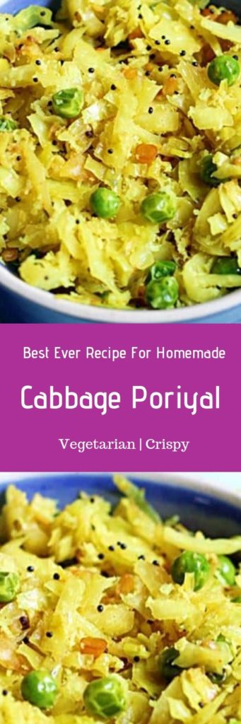 Cabbage poriyal recipe