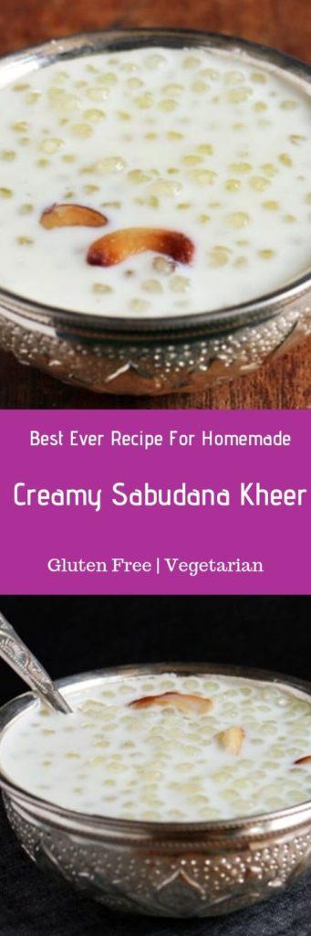 Sabudana kheer recipe or sago kheer recipe