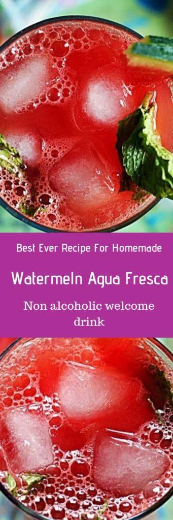 Absolutely refreshing watermelon agua fresca