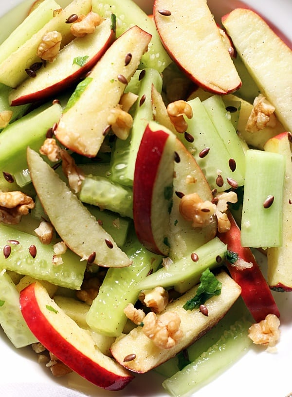 easy apple and cucumber salad