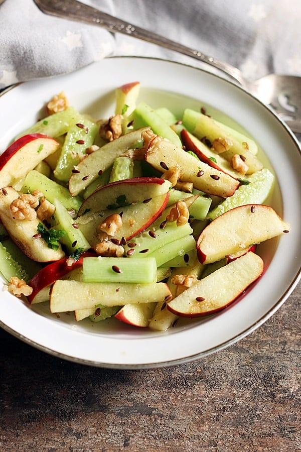 apple cucumber salad ready to serve