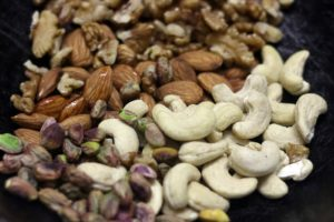 roasting nuts for dry fruits laddu
