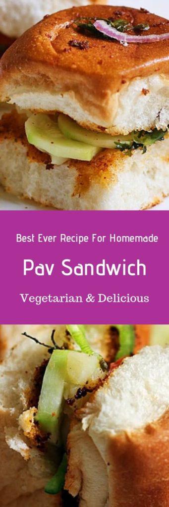 Pav sandwich recipe,