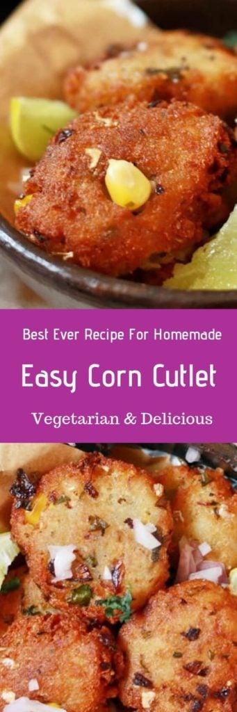 Corn cutlet recipe