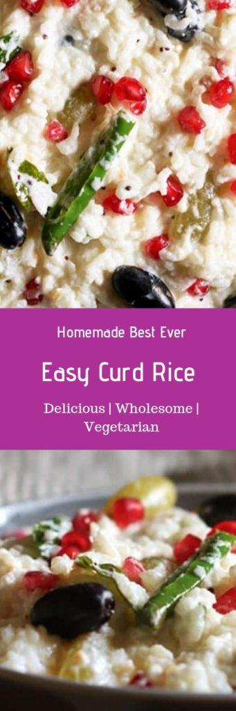 Curd rice or thayir sadam