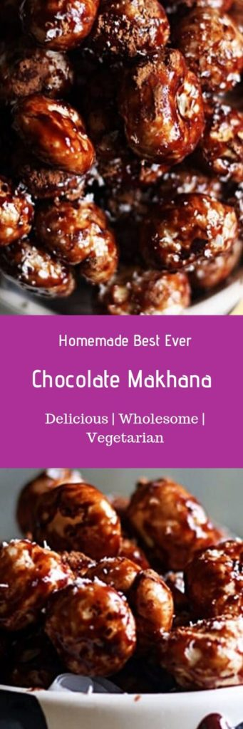 Chocolate makhana recipe