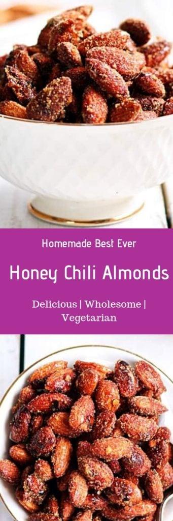 Honey roasted almonds recipe
