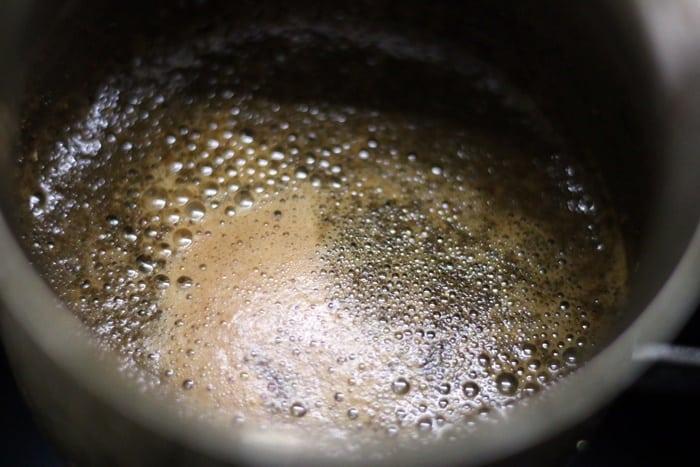 brewing chocolate tea